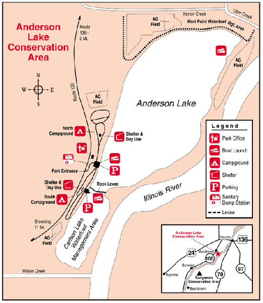 Anderson Lake, Illinois Site Map