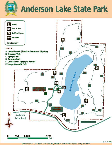 Anderson Lake State Park Map Anderson Lake State Park Jefferson