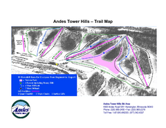 Andes Tower Hills Ski Trail Map