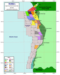 Angola Oil and Gas Map