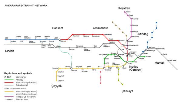 Ankara Rail Map Ankara Turkey mappery