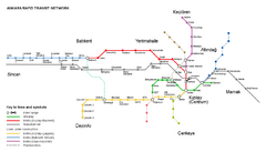 Ankara Rail Map