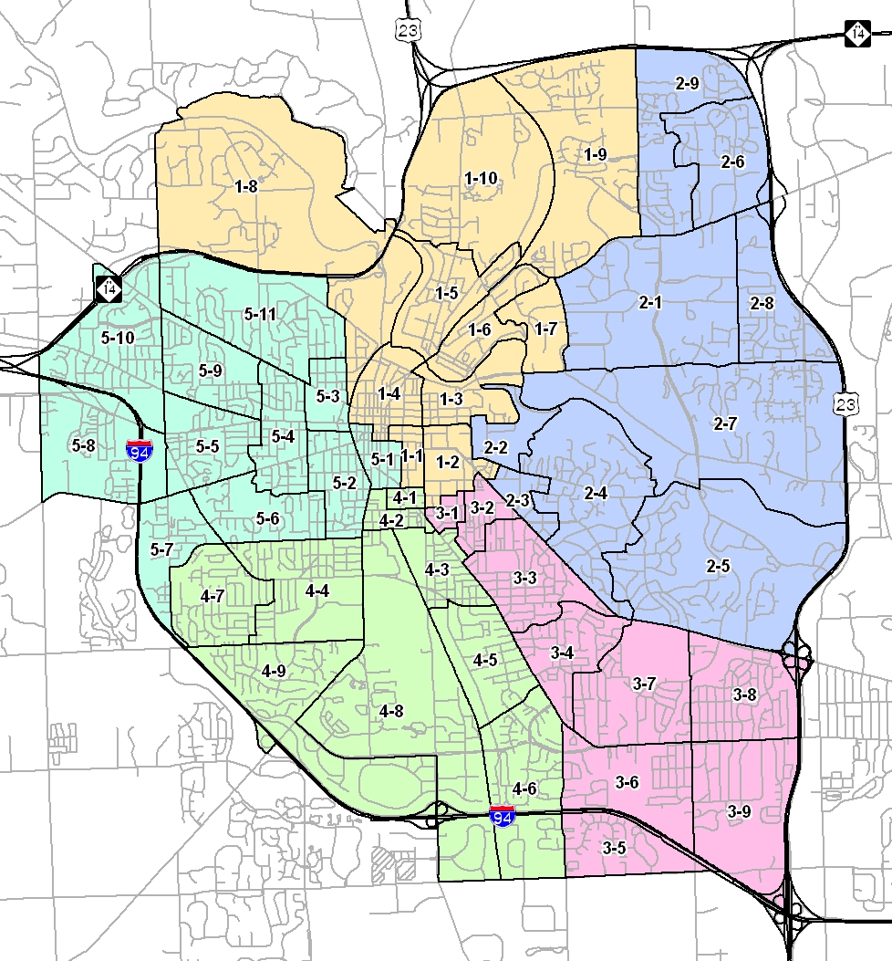 Ann Arbor City Map Ann Arbor Michigan Mappery - Ann arbor map