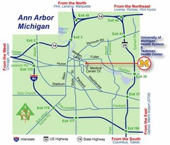 University of Michigan Campus Map Ann Arbor Michigan USA mappery