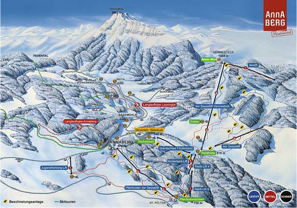 Annaberg Ski Trail Map
