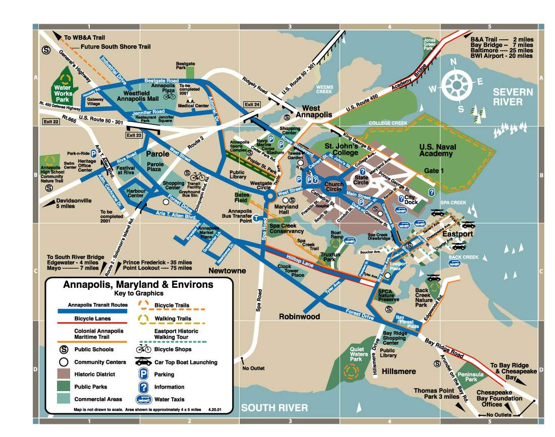 Annapolis Tourist Map  Annapolis  Mappery