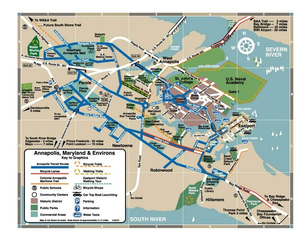 Annapolis Tourist map Annapolis mappery – Maryland Tourist Attractions Map