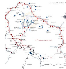 Annapurna Trail Map