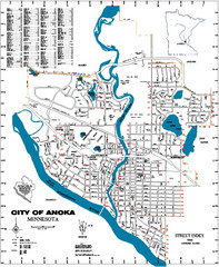 Anoka City Map