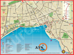 Antalya Turkey Tourist Map