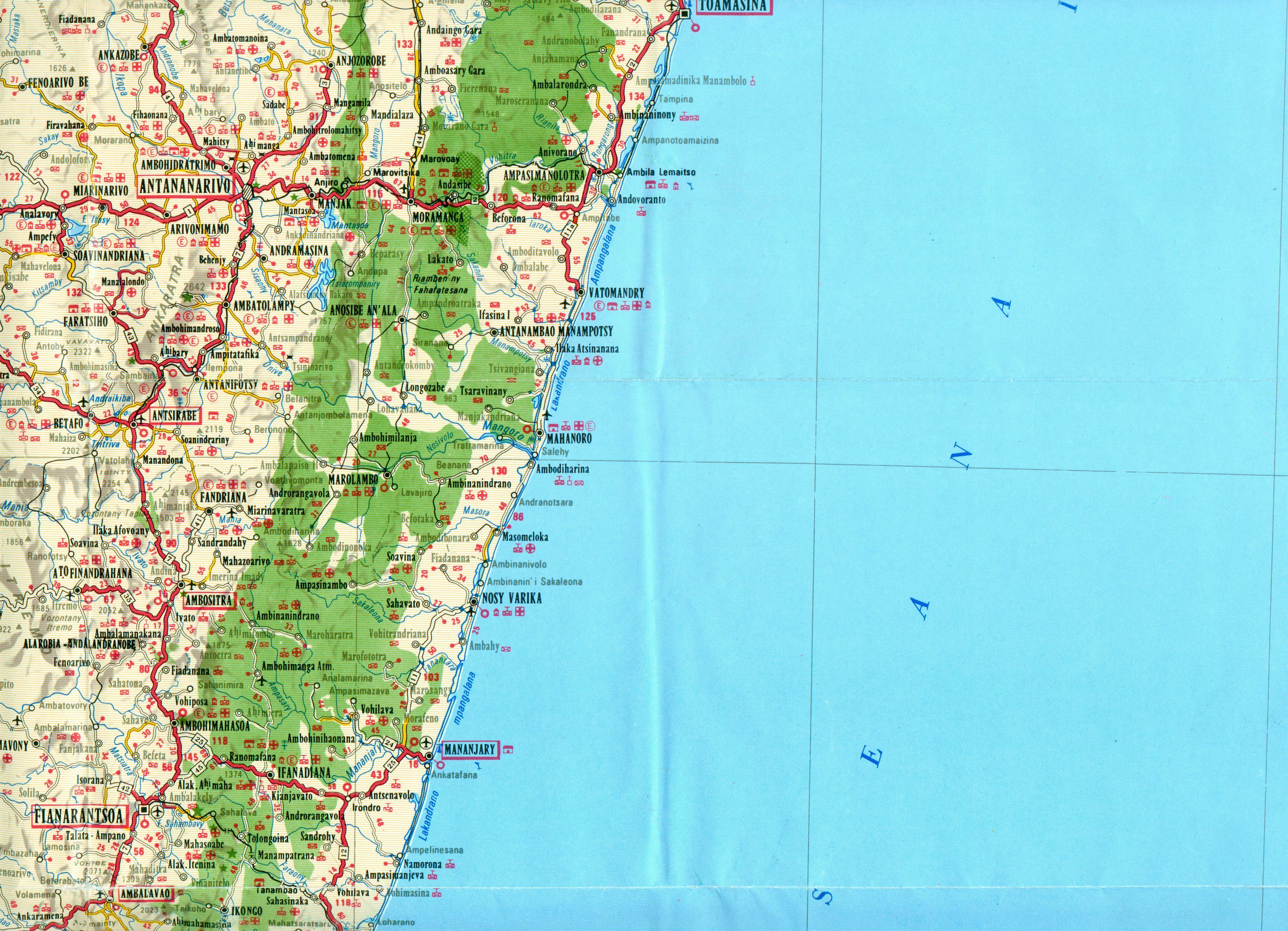 Antananarivo region Map • mappery