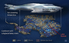 Antarctic Lakes and Rivers Map