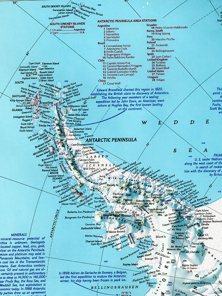 Antarctic Peninsula Map Antarctica Mappery - Where is antarctica on the map