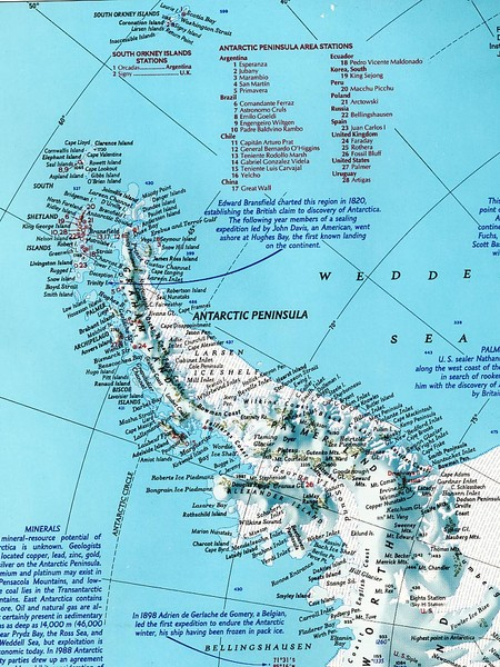 Physical Map Antarctic Peninsula