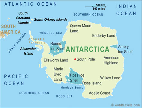 Antarctica Map Antarctica Mappery