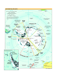 Antarctica Political Map 2005