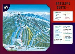 Antelope Butte Ski Area Ski Trail Map