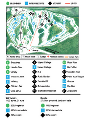 Anthony Lakes Mountain Resort Ski Trail Map