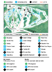 Anthony Lakes Ski Map