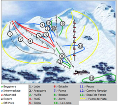 Antillanca Ski Trail Map