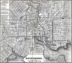 Antique Map of Baltimore from 1869