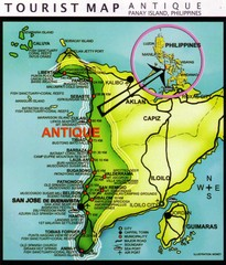 Antique Region Panay Island Map