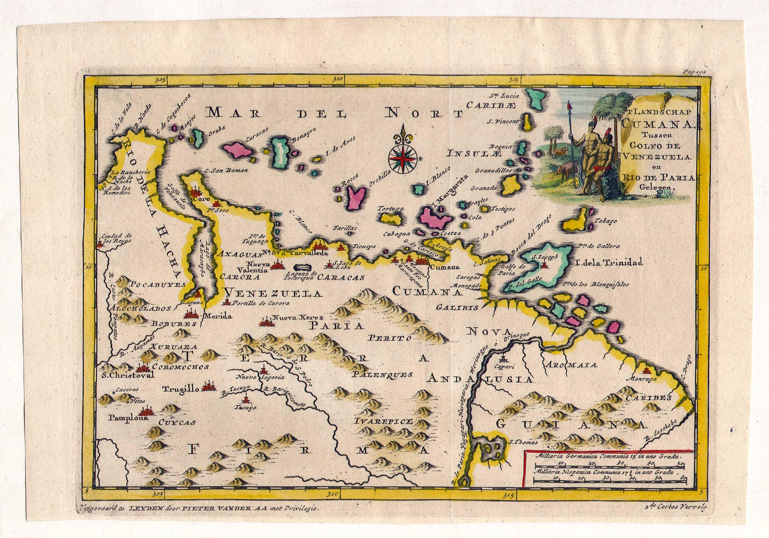 Antique venezuela map venezuela mappery sciox Images