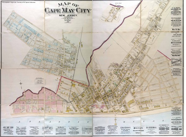 Antique map of Cape May from 1886 cape may new jersey mappery – Cape May Tourist Map