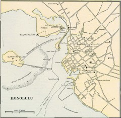Antique map of Honolulu from 1901