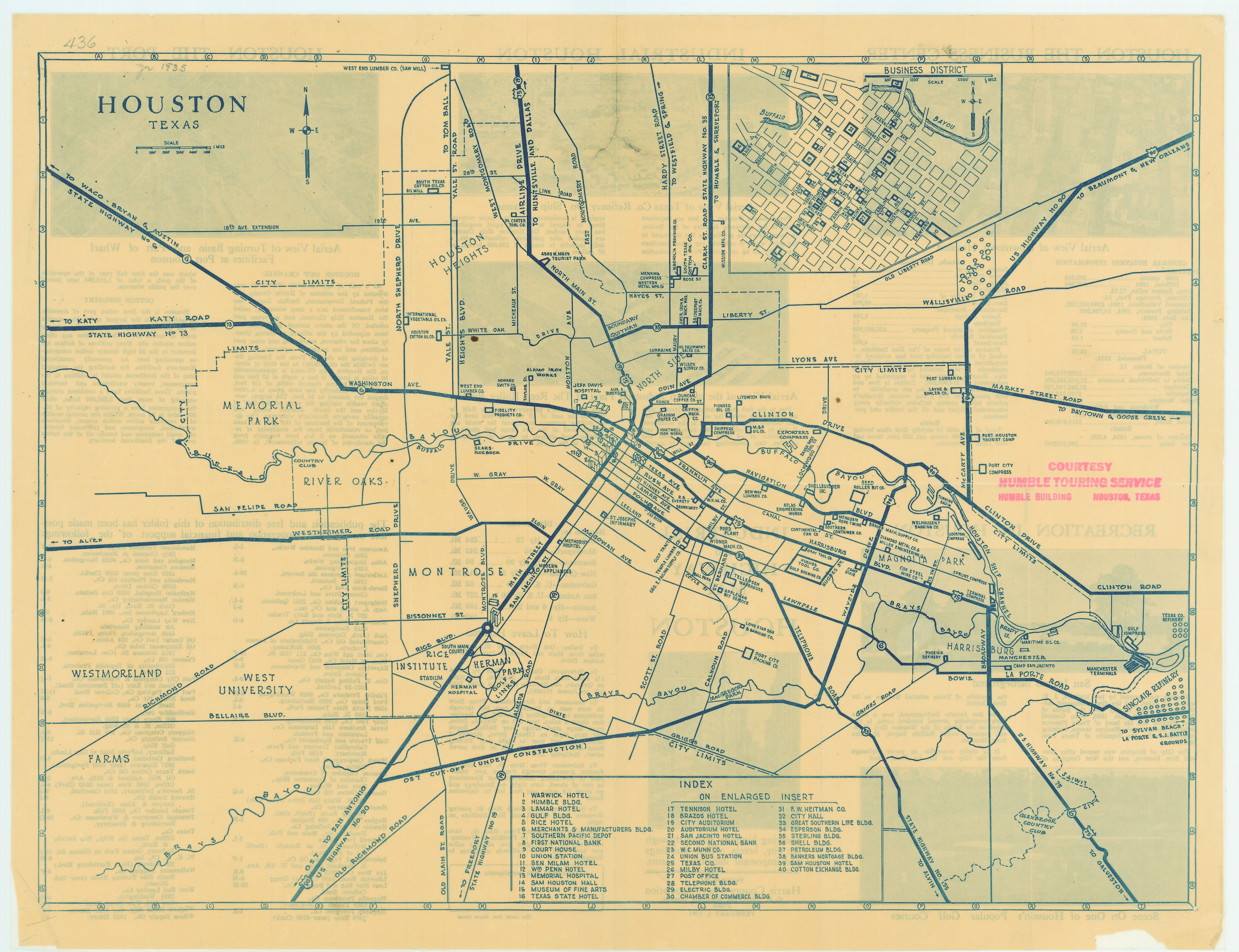 Buy Old Austin Texas Map Vintage Historical Map Antique: Antique Map Of Houston From 1935