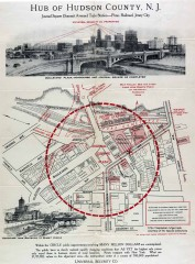 Antique map of Jersey City from 1925
