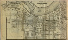 Antique map of Louisville from 1873