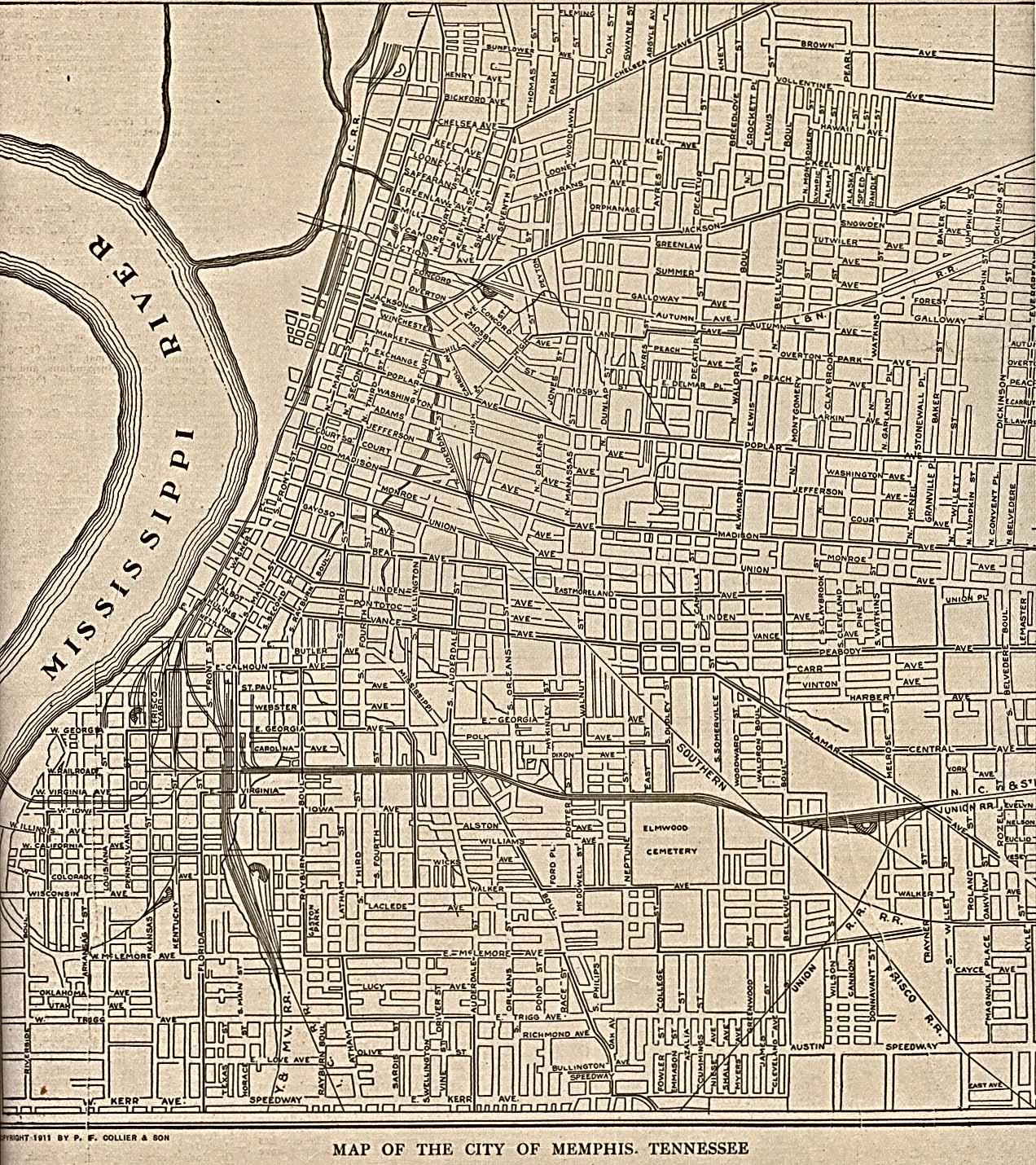 Battle Creek City Street Map