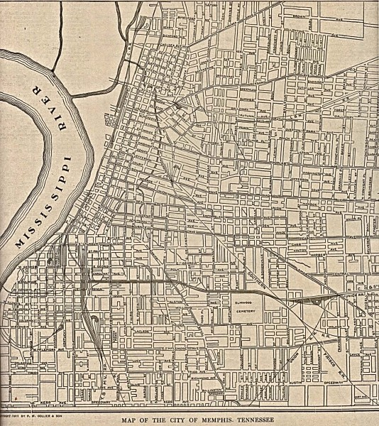 Antique map of Memphis from 1911 - memphis tn • mappery