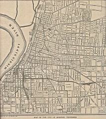 Antique map of Memphis from 1911