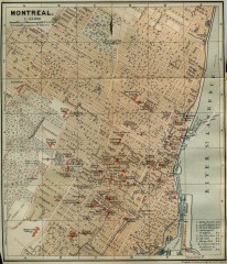 Antique map of Montreal from 1894