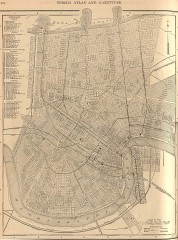 Antique map of New Orleans from 1908