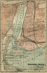 Antique map of Niagara Falls from 1894