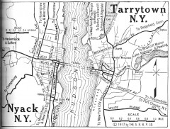 Antique map of Nyack and Tarrytown from 1917