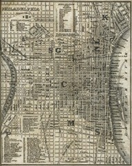 Antique map of Philadelphia from 1842