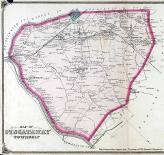 Antique map of Piscataway from 1876