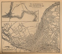 Antique map of Pittsburgh from 1879