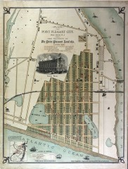 Antique map of Point Pleasant from 1880