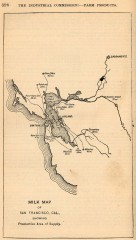 Antique map of San Francisco from 1901
