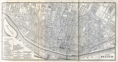 Antique map of St. Louis from 1885