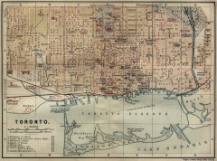 Antique map of Toronto from 1894