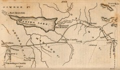 Antique map of Utica, NY from 1830