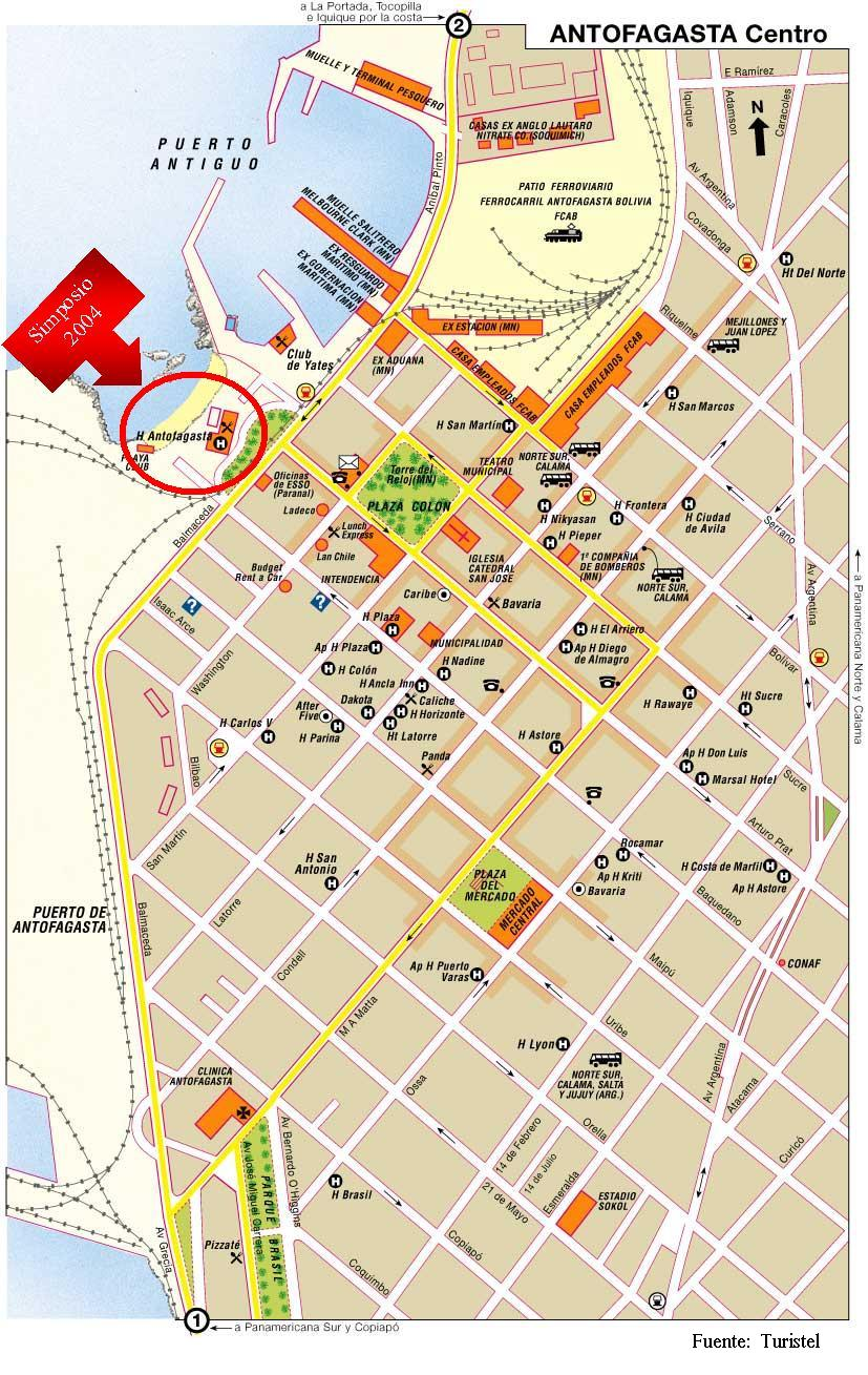 Antofagasta Map Antofagasta Chila mappery