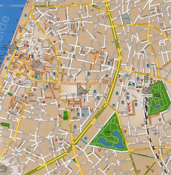 Antwerp Tourist Map