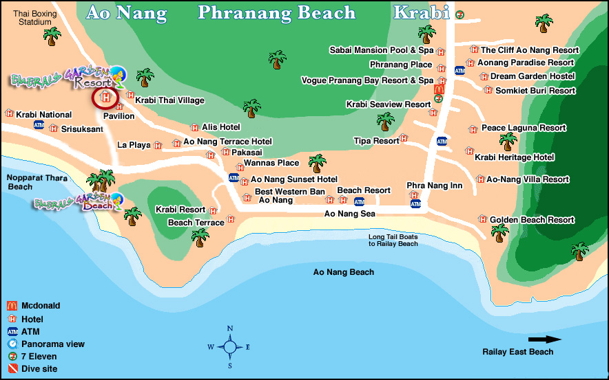 Ao Nang Tourist Map - Ao Nang • mappery